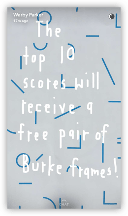 warby parker marketing on snapchat