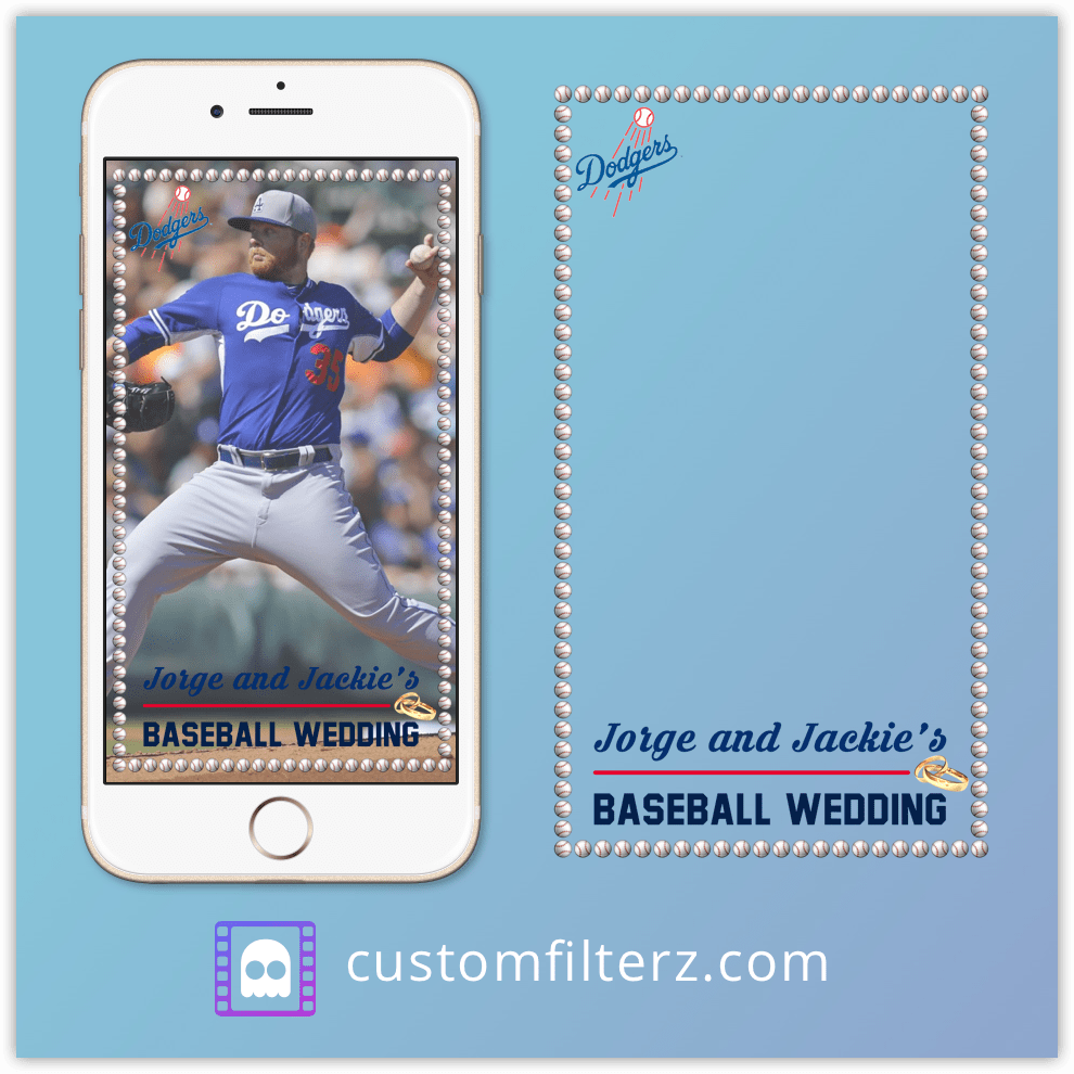 baseball wedding geofilter ideas