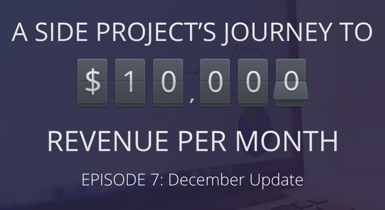 Journey to $10,000: December Update 6
