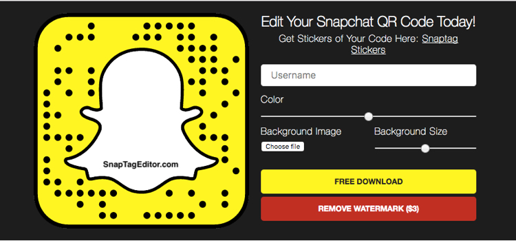 how to edit snapcode
